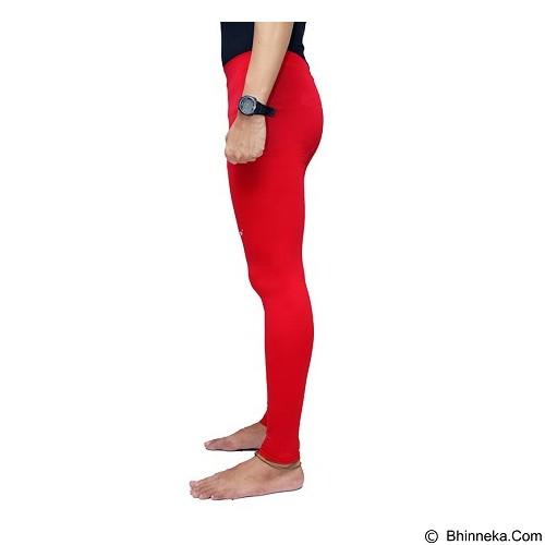 TIENTO Baselayer Manset Rashguard Compression Long Pants Size L - Red White (Merchant) - Celana Olahraga Pria