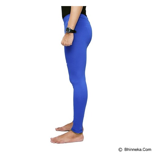 TIENTO Baselayer Manset Rashguard Compression Long Pants Size L - Blue White (Merchant) - Celana Olahraga Pria