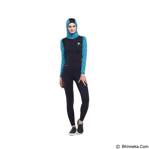 TIENTO Baju Renang Wanita Muslimah Ukuran L - Black Turquoise (Merchant) - Pakaian Renang Wanita