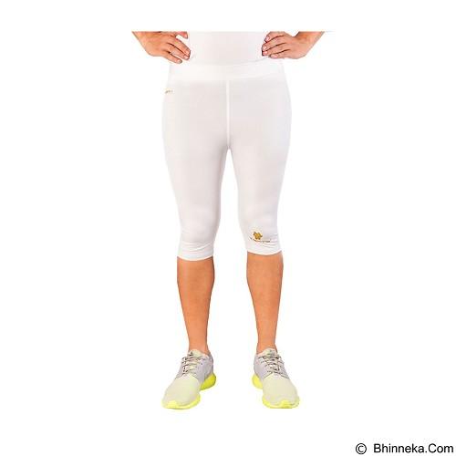 TIENTO Baselayer Manset Rash Guard Compression Half Pants Size L - White Gold - Celana Olahraga Pria