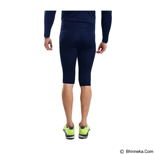 TIENTO Baselayer Manset Rash Guard Compression Half Pants Size M - Navy Silver - Celana Olahraga Pria