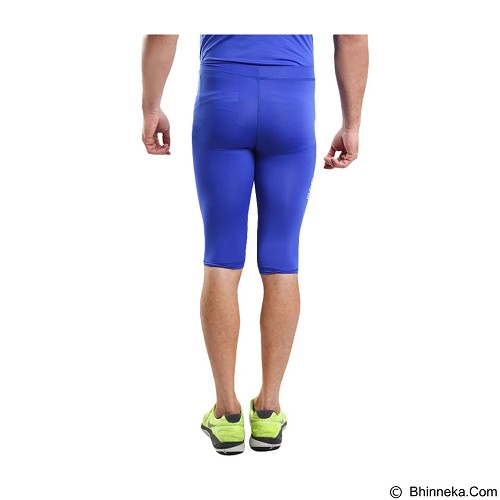 TIENTO Baselayer Manset Rash Guard Compression Half Pants Size S - Blue White - Celana Olahraga Pria