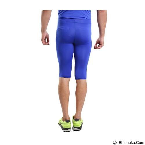 TIENTO Baselayer Manset Rash Guard Compression Half Pants Size S - Blue White - Celana Olahraga Pria