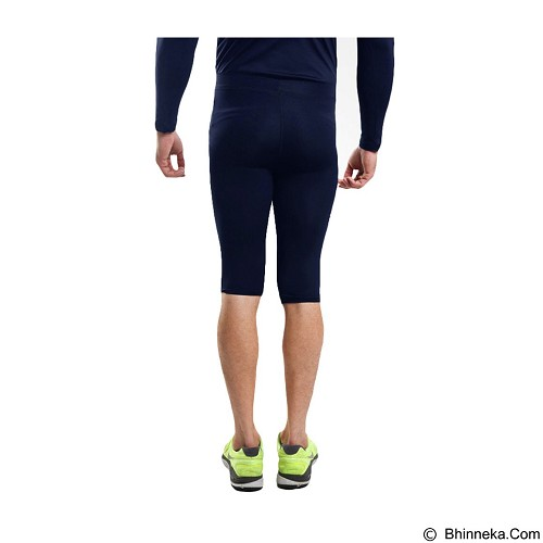 TIENTO Baselayer Manset Rash Guard Compression Half Pants Size S - Navy White - Celana Olahraga Pria