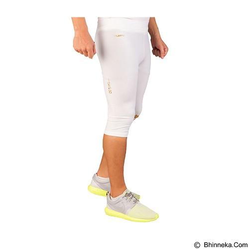 TIENTO Baselayer Manset Rash Guard Compression Half Pants Size XL - White Gold - Celana Olahraga Pria