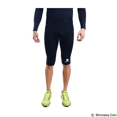 TIENTO Baselayer Manset Rash Guard Compression Half Pants Size XXL - Navy White - Celana Olahraga Pria