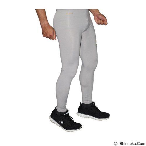 TIENTO Baselayer Manset Rash Guard Compression Long Pants Size L - Grey Gold (Merchant) - Celana Olahraga Pria