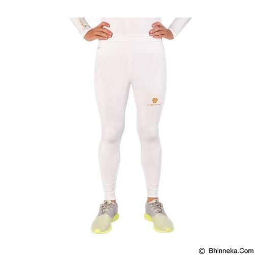 TIENTO Baselayer Manset Rash Guard Compression Long Pants Size L - White Gold - Celana Olahraga Pria