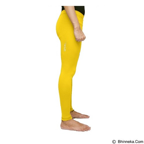 TIENTO Baselayer Manset Rash Guard Compression Long Pants Size L - Yellow Silver - Celana Olahraga Pria