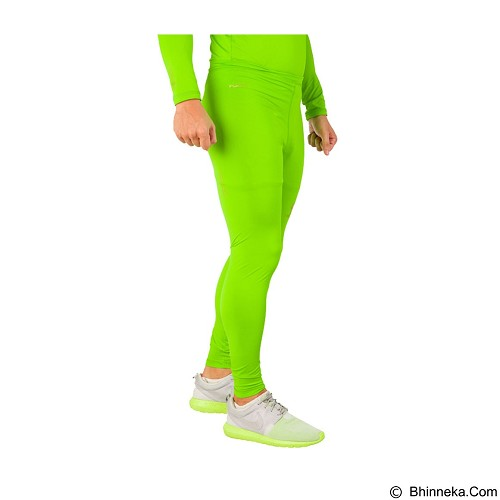 TIENTO Baselayer Manset Rash Guard Compression Long Pants Size M - Green Stabilo - Celana Olahraga Pria
