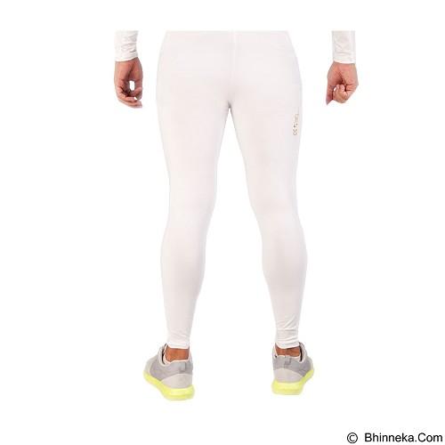 TIENTO Baselayer Manset Rash Guard Compression Long Pants Size M - White Gold - Celana Olahraga Pria