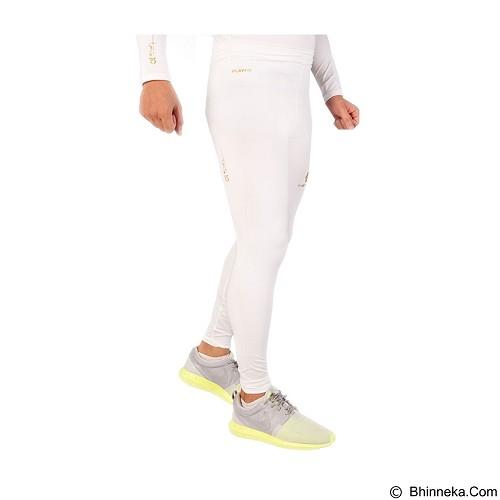 TIENTO Baselayer Manset Rash Guard Compression Long Pants Size S - White Gold - Celana Olahraga Pria