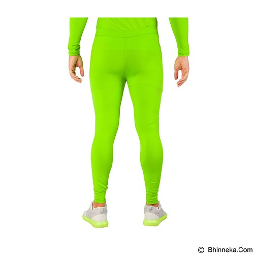 TIENTO Baselayer Manset Rash Guard Compression Long Pants Size XL - Green Stabilo - Celana Olahraga Pria