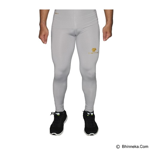 TIENTO Baselayer Manset Rash Guard Compression Long Pants Size XL - Grey Gold (Merchant) - Celana Olahraga Pria