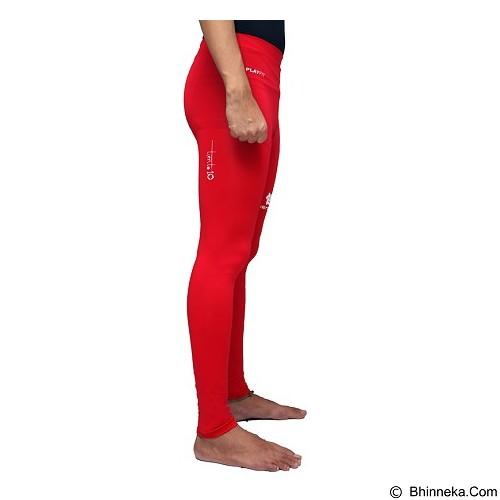 TIENTO Baselayer Manset Rash Guard Compression Long Pants Size XL - Red White - Celana Olahraga Pria