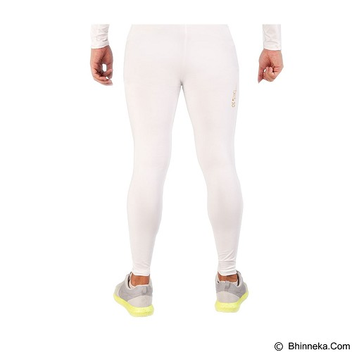 TIENTO Baselayer Manset Rash Guard Compression Long Pants Size XL - White Gold - Celana Olahraga Pria