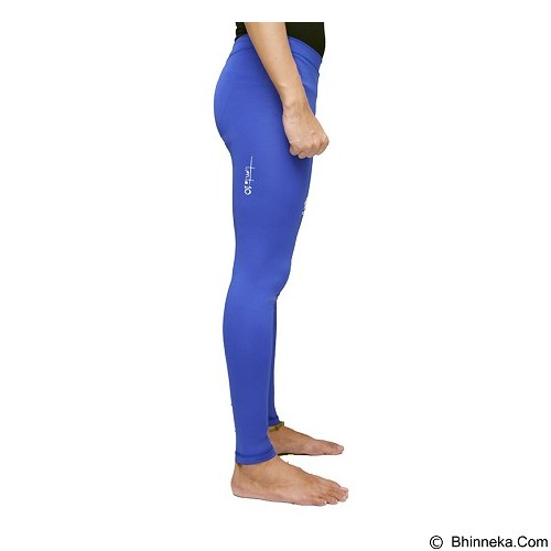 TIENTO Baselayer Manset Rash Guard Compression Long Pants Size XXL - Blue White - Celana Olahraga Pria