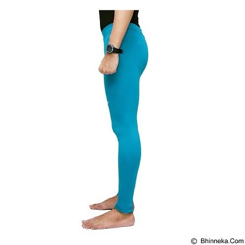 TIENTO Baselayer Manset Rash Guard Compression Long Pants Size XXL - Turkis White - Celana Olahraga Pria