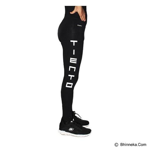 TIENTO Baselayer Manset Rash Guard Compression Long Pants Typotype Size M - Black White (Merchant) - Celana Olahraga Pria