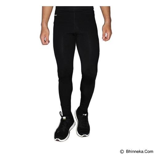 TIENTO Baselayer Manset Rash Guard Compression Long Pants Typotype Size XXL - Black White (Merchant) - Celana Olahraga Pria