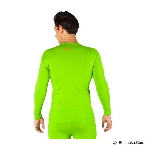 TIENTO Baselayer Manset Rash Guard Compression Long Size M - Green Stabilo - Kaos Pria
