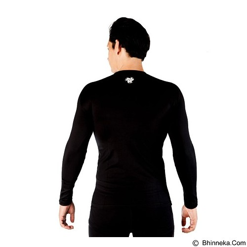 TIENTO Baselayer Manset Rash Guard Compression Long Sleeve Starwars Size XL - Black - Kaos Pria