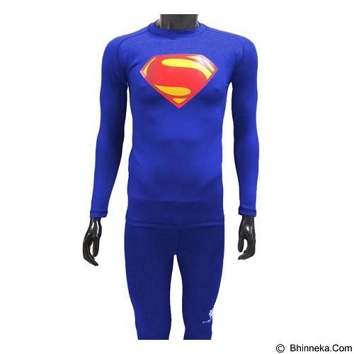 TIENTO Baselayer Manset Rash Guard Compression Long Sleeve Superman Size S - Benhur - Kaos Pria