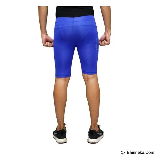TIENTO Baselayer Manset Rash Guard Compression Short Pants Size L - Blue White - Celana Olahraga Pria