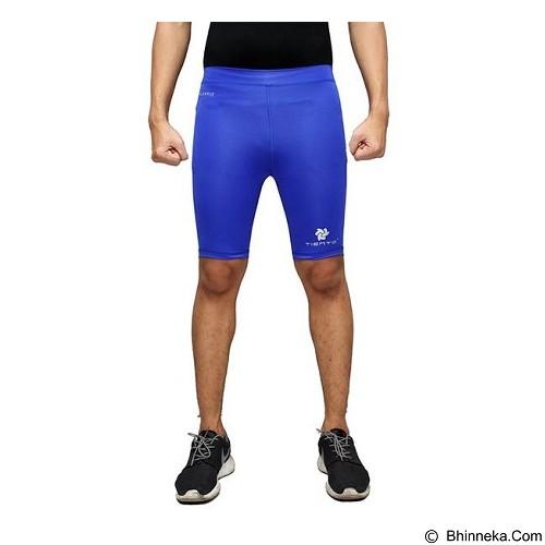 TIENTO Baselayer Manset Rash Guard Compression Short Pants Size M - Blue Silver - Celana Olahraga Pria