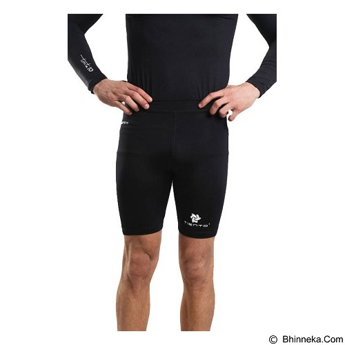 TIENTO Baselayer Manset Rash Guard Compression Short Pants Size S - Black White - Celana Olahraga Pria