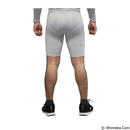 TIENTO Baselayer Manset Rash Guard Compression Short Pants Size S - Grey Gold (Merchant) - Celana Olahraga Pria