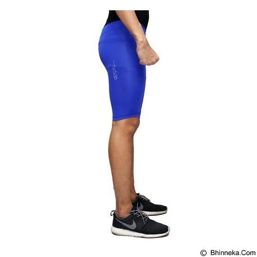 TIENTO Baselayer Manset Rash Guard Compression Short Pants Size XL - Blue White - Celana Olahraga Pria