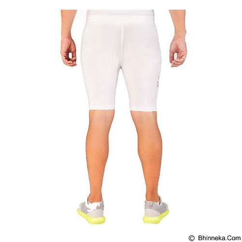 TIENTO Baselayer Manset Rash Guard Compression Short Pants Size XL - White Gold - Celana Olahraga Pria