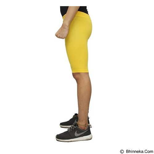 TIENTO Baselayer Manset Rash Guard Compression Short Pants Size XL - Yellow Silver - Celana Olahraga Pria