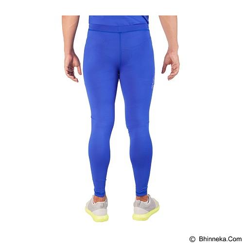 TIENTO Baselayer Manset Rashguard Compression Long Pants - Blue Silver Size M (Merchant) - Celana Olahraga Pria