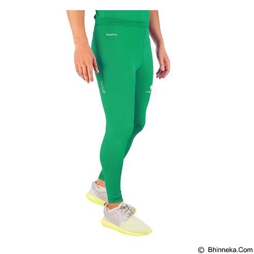 TIENTO Baselayer Manset Rashguard Compression Long Pants - Green Size M (Merchant) - Celana Olahraga Pria