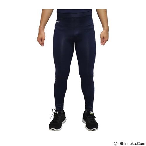 TIENTO Baselayer Manset Rashguard Compression Long Pants Typotype Size S - Navy White (Merchant) - Celana Olahraga Pria