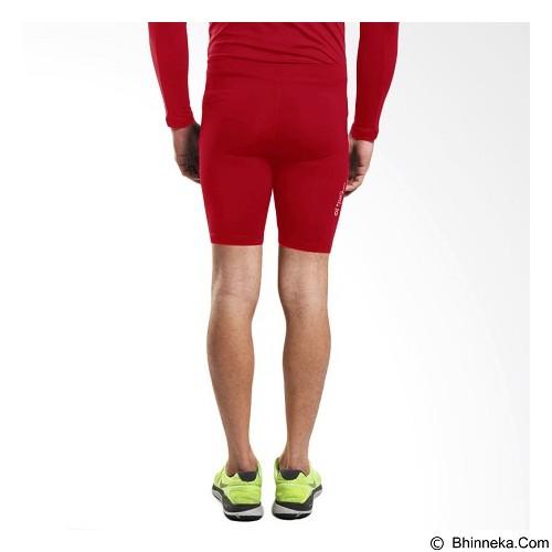 TIENTO Baselayer Manset Rashguard Compression Short Pants Size M - Red White (Merchant) - Celana Olahraga Pria