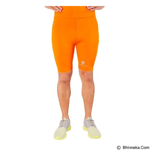 TIENTO Baselayer Manset Rashguard Compression Short Pants Size S - Orange Silver (Merchant) - Celana Olahraga Pria