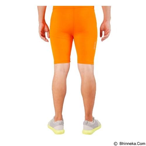 TIENTO Baselayer Manset Rashguard Compression Short Pants Size XL - Orange Silver (Merchant) - Celana Olahraga Pria