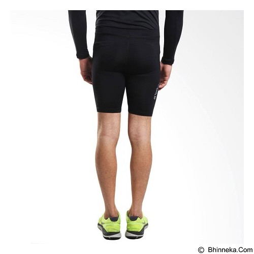TIENTO Baselayer Manset Rashguard Compression Short Pants Size XXXL - Black White (Merchant) - Celana Olahraga Pria