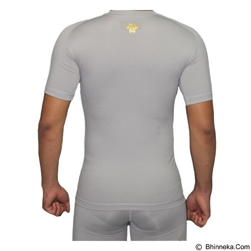 TIENTO Baselayer Manset Rashguard Compression Short Sleeve Size S - Grey Gold (Merchant) - Kaos Pria