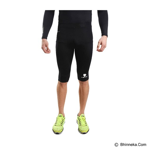 TIENTO Tiento Baselayer Manset Rash Guard Compression Half Pants Size S - Black White - Celana Olahraga Pria