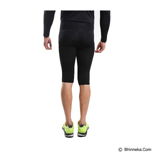 TIENTO Tiento Baselayer Manset Rash Guard Compression Half Pants Size S - Black White - Celana Olahraga Pria