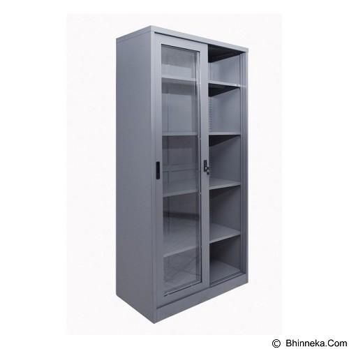 TIGER Almari Arsip Pintu Kaca Sliding [FC-E18] (Merchant) - Filing Cabinet / Lemari Arsip