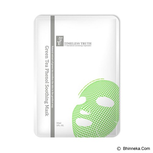 TIMELESS TRUTH Green Tea Phenol Soothing Mask - Masker Wajah