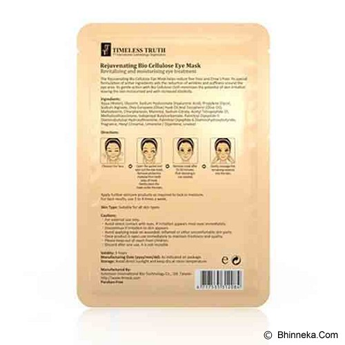 TIMELESS TRUTH Rejuvenating Bio Cellulose Eye Mask - Perawatan Mata