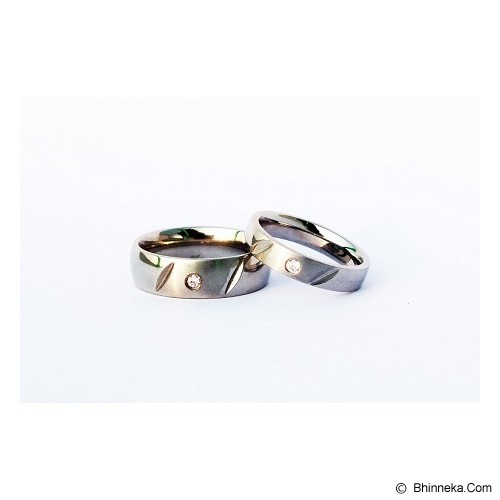 TITANIUM Cincin Couple Size 5(W) & 9(M) [CC027] - Cincin