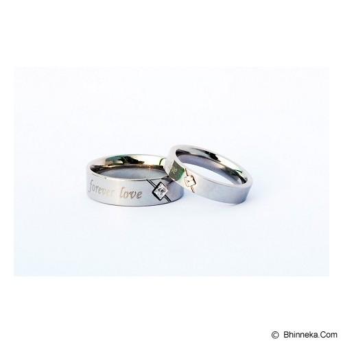TITANIUM Cincin Couple Size 5(W) & 9(M) [CC035] - Cincin