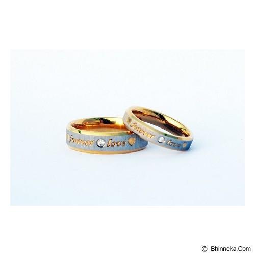TITANIUM Cincin Couple Size 5(W) & 9(M) [CC039] - Cincin